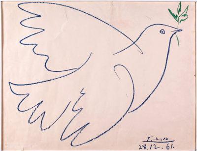 Пабло Пікассо 1881 – 1973 Голуб з гілкою маслини. 1961