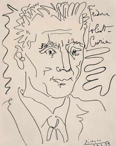 Пабло Пікассо 1881 - 1973 Портрет Ф.-Ж. Кюрі. 1959