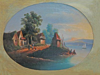 Невідомий художник. Голандія Пейзаж з озером і фермою. XVII ст.