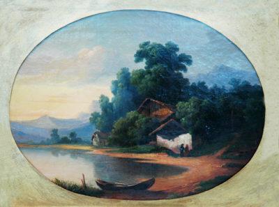 Невідомий художник. Голандія Пейзаж з озером. ХVII ст.