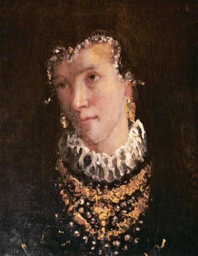 Оффсердет Е. Портрет жінки в іспанському костюмі