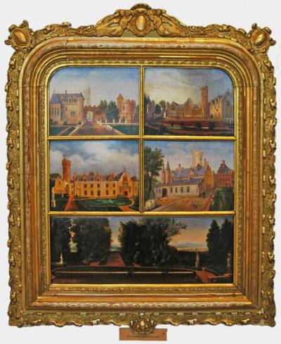 Невідомий художник. Франція П'ять зображень замку. ХVІІІ ст.