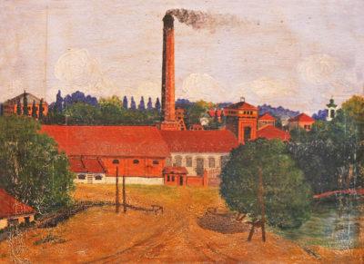 Лєухін С.Г. 1908 – 1961 Вид цукрового заводу в с. Пархомівка. 1930