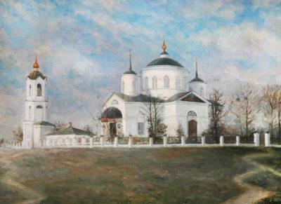 Бережний Г. Н. 1940 р.н. Церква Покрови Богородиці в  с.Пархомівка. 1980