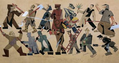 Маяковський В.В. 1893 - 1930 Ескізи костюмів до п'єси   В.Маяковського