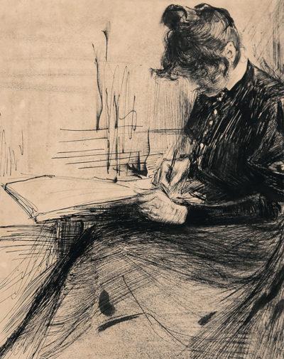Рєпін Ю. І. 1844 - 1930 Дівчина, що пише. 1892