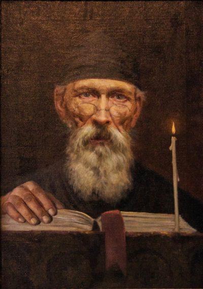 Веніг П. К. 1870–1942 Монах за читанням. 1914