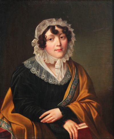 Невідомий художник. Портрет жінки з книгою. Поч. ХІХ ст.