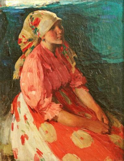 Архіпов А. Ю. 1862 - 1930 Дівчина у рожевому. 1910