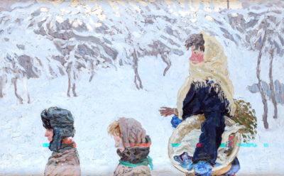Ткачов О. П. 1925 р.н. Зима. Суботній день. 1976