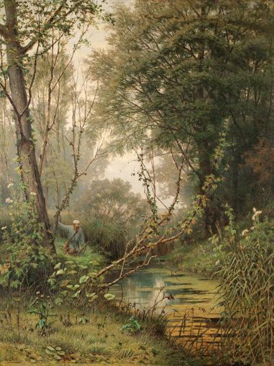 Волков Ю.Ю. 1844 - 1920 Пейзаж з мисливцем. 1882