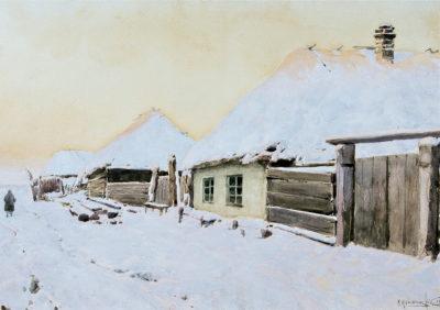 Крижицький К. Я. 1858 - 1911 Зимовий пейзаж. 1903