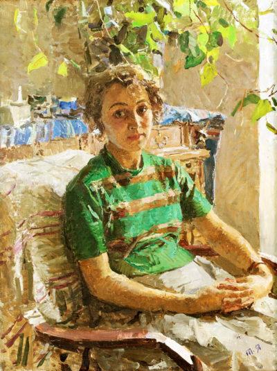 Яюлонська Т.Н. 1917 - 2005 Портрет О. Алфьорової. 1950-ті